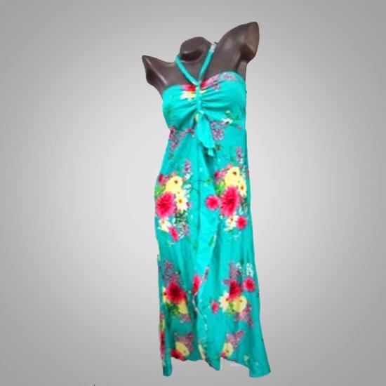 Flower Neckholder Dress