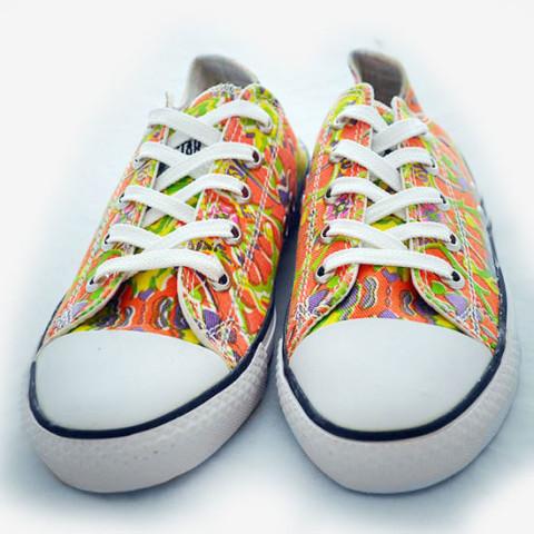 Batik Sneaker - Orange