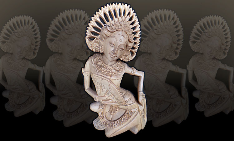 Bali Wooden Statue Dancer