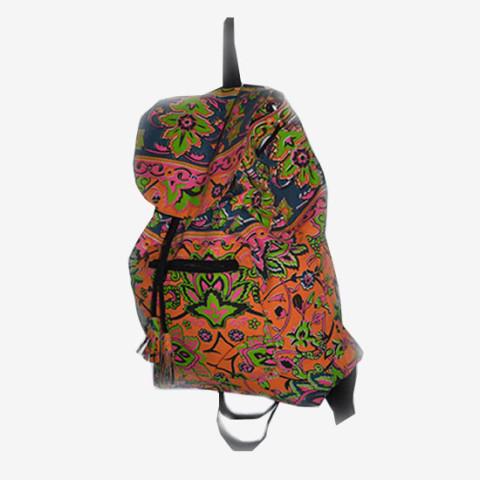 Colourful Backpack - Orange/Blue
