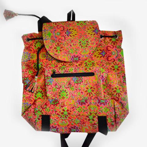 Colourful Backpack - Orange