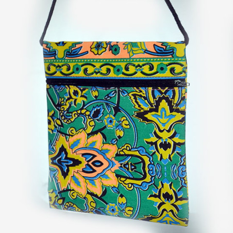 Colourful Small Shoulder Bag - Green