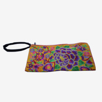 Floral Pouch M - Yellow