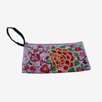 Floral Pouch M - White/Red