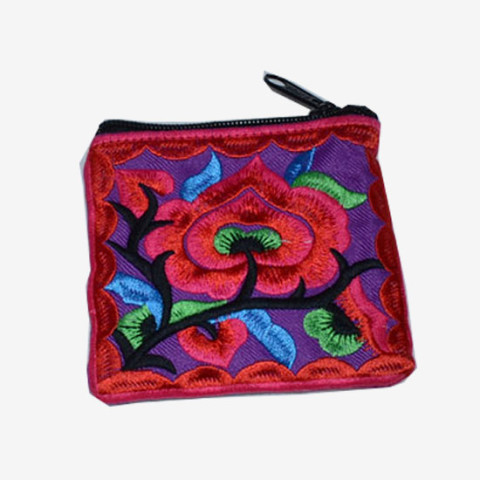 Floral Pouch XS - Red