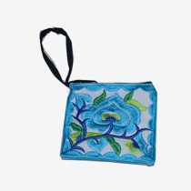 Floral Pouch XS - White/Blue