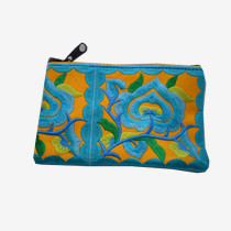 Floral Pouch S - Yellow/Blue