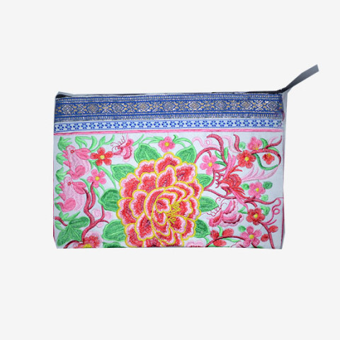 Floral Clutch - White
