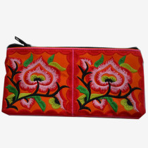 Floral Pouch L - Red