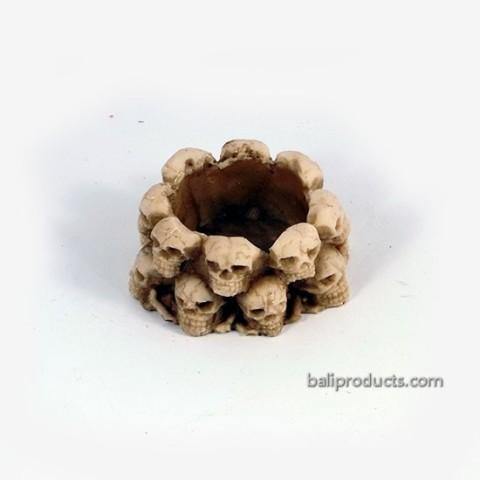 Pile of Skulls Candle Holder