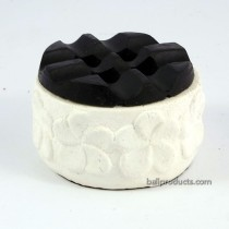 Flower Ashtray Black White