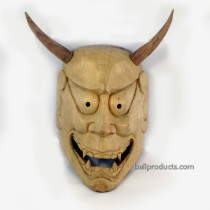 Devil Mask White Wood