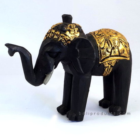 Gold Wooden Elephant