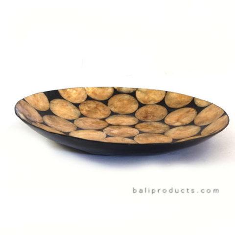 Gold Capiz Shell Plate