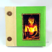 BUDDHA PHOTO ALBUM SMALL GREEN