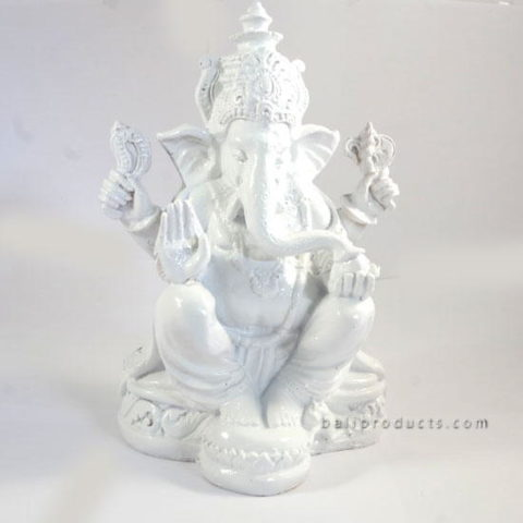 Resin Ganesh White L