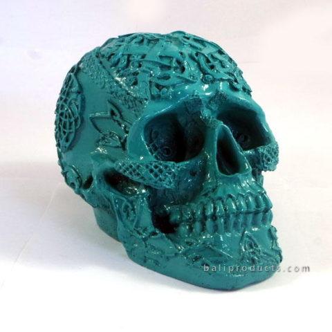Resin Skullcarving Blue