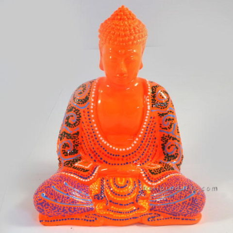Resin Buddha Batik Orange