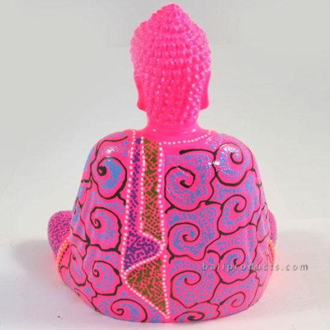 Resin Buddha Batik Pink