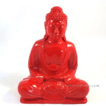 Resin Buddha Plain Red