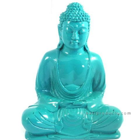 Resin Buddha Plain Blue