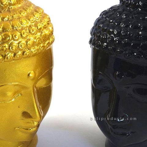 Resin Buddha Head Gold
