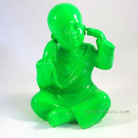 Resin Monk Closing Ear Green