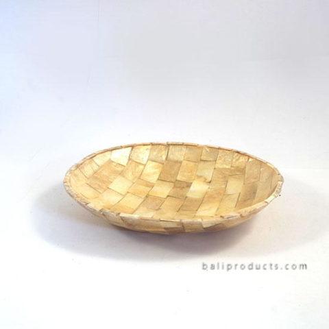 Capiz Shell Bowl Round Gold
