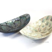 Crushed Shell Leave Tray Silver