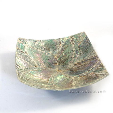 Crushed Shell Square Bowl