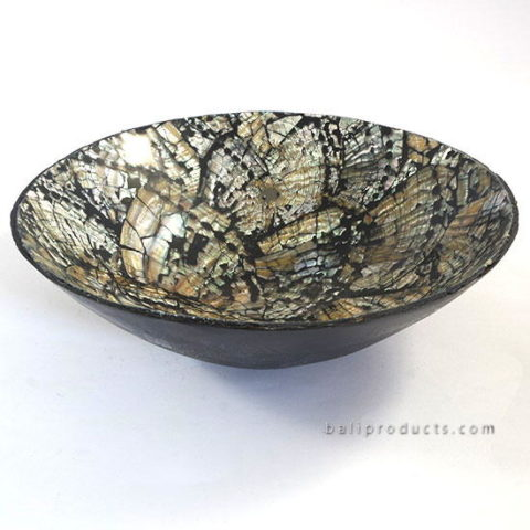 Crushed Shell Round Bowl