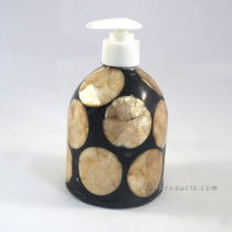 Capiz Shell Soap Dispenser Black Gold