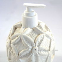 Resin White Cement Flower Soap Dispenser