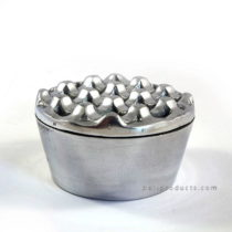 Round Aluminium Ashtray Chrome