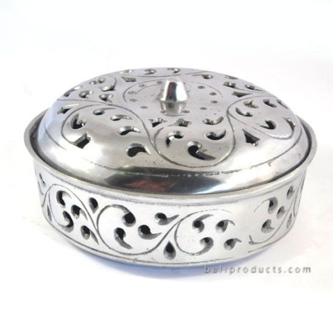 Chromed Aluminium Mosquito Coil Holder Carving