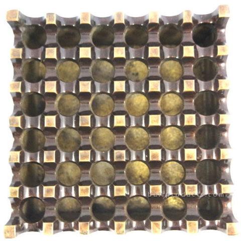 Brass Chromed Ashtray 36 Holes