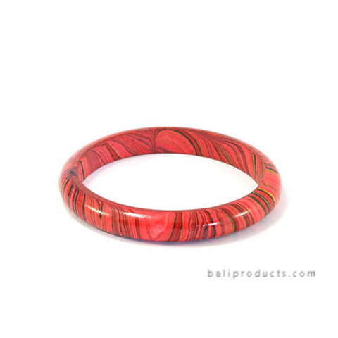 Wood Bangle Red