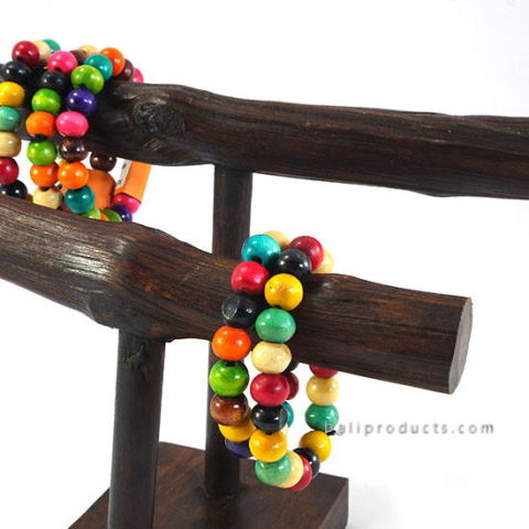 Wood Bead Bracelet Mix Colors