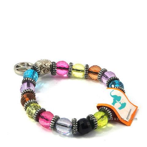 Glass Bead Bracelet Mix Colors