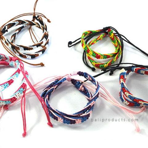 Set 12 Rasta Leather Bracelet