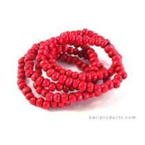Red Bead Bracelet Set 5
