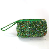 Beads Round Tube Pouch Mixed