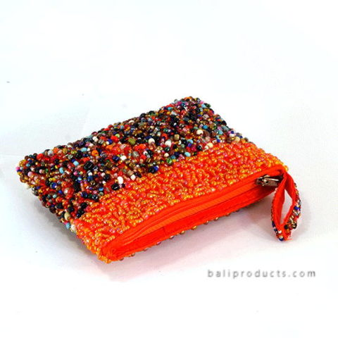 Beads Pouch With Band Mix Motive