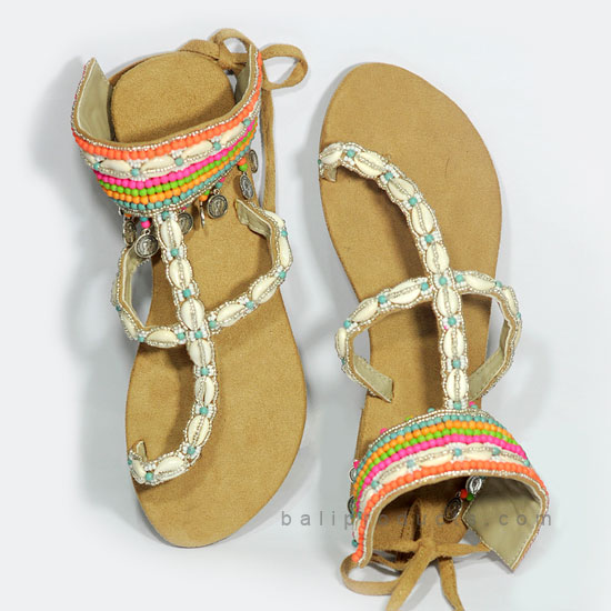 Bali Bead Sandal Multi Color Motive