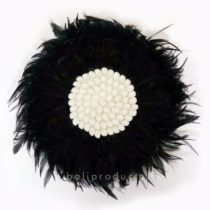 Circle Feather Black