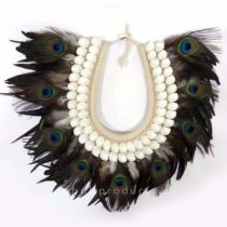 Peacock Feather Wall Decor Motif circle