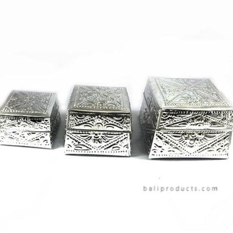 Set 6 Aluminium Carving Box