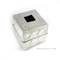 Aluminium Carving Tissue Box Square