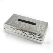 Aluminium Carving Rectangular Tissue Box