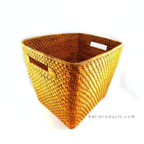Lombok Rattan Basket Brown